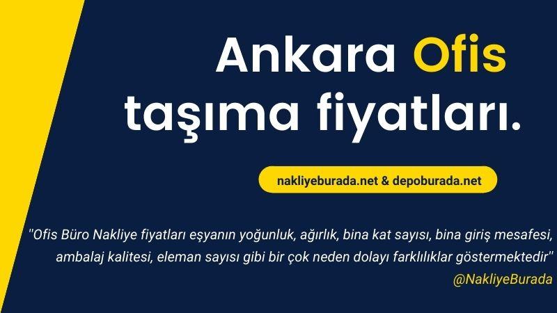 Ankara Ofis taşıma fiyatları.